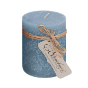 Stonebriar Chambray Textured Pillar Candle, 7.6cm by 10cm
