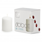 Abbott Collection Slim Pillar Candles, White, Small