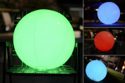 Light up Beach Ball [Large]   Glow in the dark with Colour Changing LED Lights   Great for Parties, Pool, Barbecues, or Decoration
