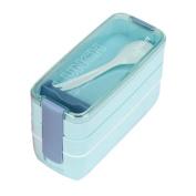 CMrtew Microwave Bento 3 Layer Lunch Box Picnic Food Storage Box