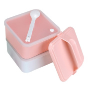CMrtew Portable 2 Layers Lunch Box Food Container Lunch Container
