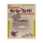 Good Hair Days The Original Grip-Tuth Hair Combs, Set of 2, 40162 Clear Shorty 4.4cm Wide