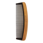 Fine Tooth Sandalwood Comb - Wooden Anti Static Hair Comb for Men and Women, Moustache Comb, Beard Comb, Brown - 6 x 0.5cm x 5.1cm