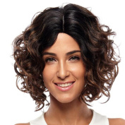 Rebecca Short Wavy Wigs Ombre Hair Synthetic Natural Dark Roots Body Wave Brown Wig Premlum Japanese Fibre Curly Wigs for Black Women