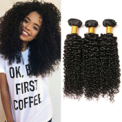 10a Unprocessed Virgin Brazilian Curly Hair 3 Bundles Kinky Curly for African American Women Natural Colour