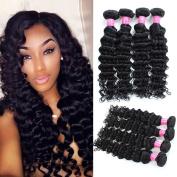 Mink Hair 8A Brazilian Deep Wave Bundles (20 20 20 20) Unprocessed Virgin Deep Wave Curly Human Hair Extensions Natural Colour