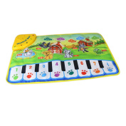 Goolsky Music Play Mat Learn Singing Carpet Keyboard Piano Blanket Touch Play Sound Baby Early Education Kids Gift