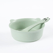 Golandstar Healthy Kitchen Dinnerware Bowl Sets Eco Biodegradable Unbreakable Dinner Dinnerware Tableware Cartoon Children Bowls with Spoons