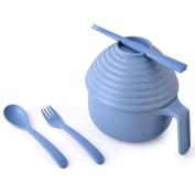 GRB012 Kitchen Dinnerware Bowl Sets Unbreakable Bowls Children Tableware Set with Fork, Spoon, Chopsticks, Cover