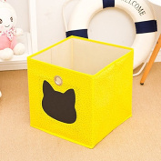 Collapsible Storage Box with Chalkboard Cute Toy Bin Eco Friendly Fabric Cube Boxes Fit Ikea Shelves