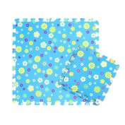 9 Pcs Beatiful Flowers Printed Baby Children Kids Play Mat Interlocking Foam Mats, #01