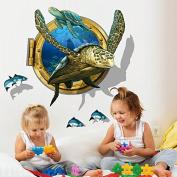 JMHWALL 3D Wall Stickers Animal Wall Poster Vinyl DIY Removable Mural Art for Kids Rooms Kindergarten Decoration ,Dark Blue
