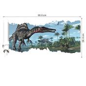 JMHWALL 9050cm newest 4 designs impression 3D cartoon movie Dinosaur home decal wall sticker/boys love kids room decor child gifts,B