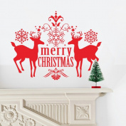 JMHWALL merry christmas deer 3D wall sticker for kids room living room bedroom christmas party wall decal home decor PVC wall decal