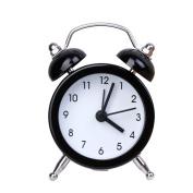 OHTOP Portable Cute Mini Round Battery Desktop Table Alarm Clock Bedside Clocks Decor