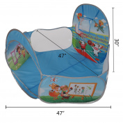Cartoon Style Kids Play Tent with Tunnel Ball Pit Pop Up Play Tent Children Indoor Outdoor Game Play Tent Toy Tents