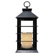 A Cheerful Giver 14cm x 34cm x 3.8cm Black Flameless Lantern
