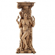 Triple Goddess Mother Maiden Crone Tea Light Candle Holder Stand 25cm