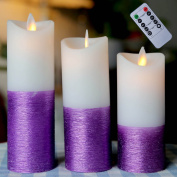 Real Wax Pillar Candle with Timer - Unscented,. 2.2''H5'',6'',7''