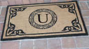 A1 Home Collections PT3006U First Impression Hand Crafted by Artisans Geneva Monogrammed Entry Doormat, 60cm L x 100cm W