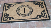 A1 Home Collections PT3006T First Impression Hand Crafted by Artisans Geneva Monogrammed Entry Doormat, 60cm L x 100cm W