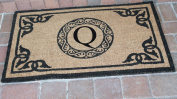 A1 Home Collections PT3006Q First Impression Hand Crafted by Artisans Geneva Monogrammed Entry Doormat, 60cm L x 100cm W