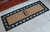 First Impression Exclusive Hand Crafted Myla Monogrammed Entry Doormat, Large Double Door Size (17.7 x 47.25)-RC2004E