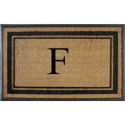 First Impressions Markham Border Double Door, Doormat, Monogrammed F, X-Large