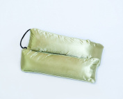 90cm Decorated Weighted Under Door Draught Stopper | Block Cold or Hot Air | Bonus Storage Bag, Sage
