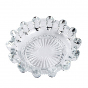 Saim Round Crystal Glass Smoking Ashtray Home Office Tabletop Decoration 14cm Dia