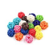Zhi Jin 30Pcs Mini Natural Wicker Rattan Balls Table Wedding Party Hanging Wobble Ball Decorative 2cm Mixed Colour