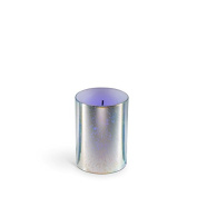 The Gerson Company 43726 7.6cm x 10cm Glow Wick(R) Wax LED Candle with Galaxy Effect with Colour Changing LED 5-Hour Timer Feature, Silver