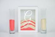 Sand Ceremony Set monogram G- Shadow Box Wedding Sand Ceremony Set - Unity Sand Ceremony Set - Beach Wedding Decor - Unity Candle Set - Sand Set