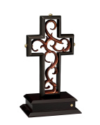 Unity Cross Rubbed Bronze and Copper Leaf
