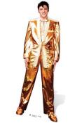 SC318 Elvis Presley Gold Lame Cardboard Cutout Standup