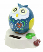 Eco-Friendly Solar Toy Owl Lover Praying Gift Home Decor - Teal US Seller