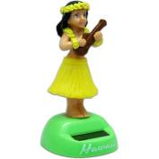 Hawaiian Hula Girl with Ukulele Solar Dashboard Doll - Assorted colours