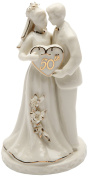 Cosmos Gifts 30715 Ceramic 50th Anniversary Couple Figurine, 12cm