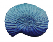 Three Hands Glass Votive Shell Plate-Blu