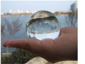 "Crystal Sphere Glass Ball 2.36"" (60mm) Clear"