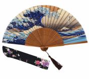 Amajiji 21cm Hand-crafted Japanese-style folding fan HBSY