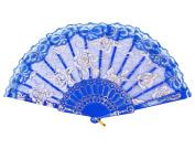 Amajiji Folding Hand Fans,Fashion Elegant Flower Rose Lace Chinese/Japanese Folding Fan