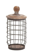 Deco 79 55313 Metal Wood Wire Jar, 18cm by 33cm