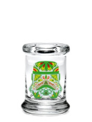 Pop-Top Stash Jar by 420 Science with Sugar Trooper Decal - X-Small