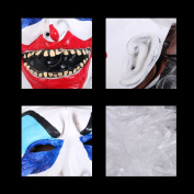 YUFENG Halloween Clown Terrorist Masks,Creepy Scary or Funny Clown Latex Mask for Costume party or Cosplay