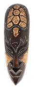 Tribal Chief Mask 30cm w/ Turtle - Tiki Primitive Art | #wib370530f