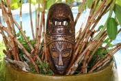 FIJIAN TIKI MASK W/ 2 DEITIES - 30cm LOVE & STRENGTH - POLYNESIAN ART