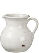 Sullivans Antique White Ceramic Pitcher, Waterproof, 20cm x 23cm