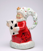 Cosmos Gifts 62753 Mrs Claus Pour the Milk Pitcher 23cm H