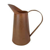 Craft Outlet Rustic Tin Pitcher, 28cm